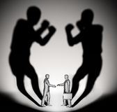 Two businessman fighters Stock Photo