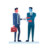 Two Businessman Hand Shake, Business Man Handshake Agreement Concept Stock Images