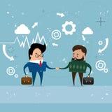 Two Businessman Hand Shake, Business Man Handshake Agreement Concept Stock Image