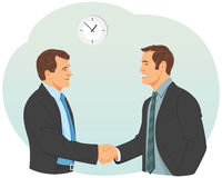 Two businessman handshake Royalty Free Stock Image