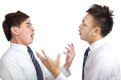 Two businessman have argument Stock Image