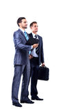 Two businessman looking Stock Images