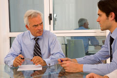 Two businessman during a meeting Stock Image