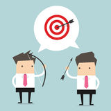 Two Businessman and one target Royalty Free Stock Images