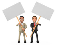 Two businessman posters Stock Images
