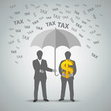 Two businessman protected money from taxes Stock Photography
