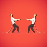 Two Businessman are pulling the rope Stock Images
