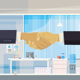 Two Businessman Shake Hand, Business Man Stand In Office Agreement Concept Royalty Free Stock Photo
