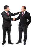 Two Businessman shaking hands Stock Photos