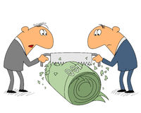 Two businessman share income Royalty Free Stock Images