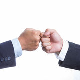 Two Businessman touching hand Royalty Free Stock Images