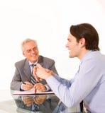 Two businessmen Stock Photos