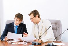 Two businessmen Royalty Free Stock Image