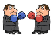 Two businessmen with boxing gloves 2. Illustration of two businessmen with boxing gloves going to fight Stock Photos