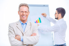 Two businessmen at conference room Royalty Free Stock Photos