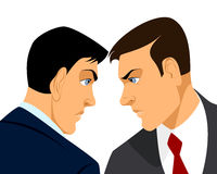 Two businessmen confrontation. Vector illustration of a two businessmen confrontation Royalty Free Stock Photography
