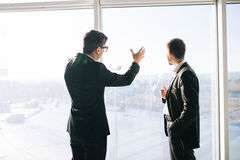 Two businessmen dicussing future business plans Royalty Free Stock Photos