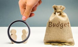 Two businessmen are discussing the company`s budget. Business planning. The distribution of costs and resources. Profit taking. Search for sources of funding royalty free stock photography