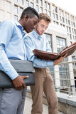Two businessmen  discussing  project Stock Photography