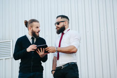 Two businessmen discussing something Stock Images