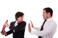 Two businessmen discussing because of work, very s Royalty Free Stock Image