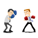 Two businessmen fight. Vector illustration of  two businessmen fight Stock Photos