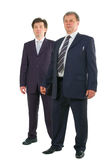 Two businessmen full-length portrait Stock Photography