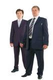 Two businessmen full-length portrait Stock Photography