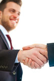 Two businessmen giving handshake Stock Photo
