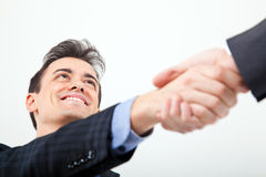 Two businessmen giving handshake Royalty Free Stock Photography