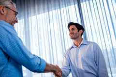Two businessmen giving a handshake Stock Photo