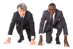 Two businessmen on the grid Royalty Free Stock Image