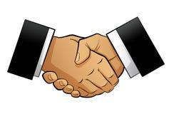 Handshake. Two businessmen hands in a handshake vector illustration