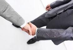 Two businessmen hands handshake Stock Photography
