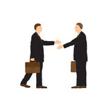 Two businessmen. Handshake. Royalty Free Stock Images