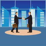 Two businessmen. Handshake. Greeting. Congratulation. Conclusion of the contract Royalty Free Stock Photos