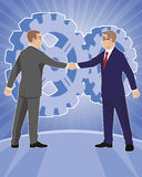 Two businessmen handshake Royalty Free Stock Photos