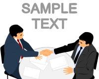 Two businessmen handshake Stock Images