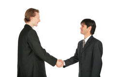 Two businessmen handshaking Stock Image