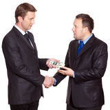 Two businessmen have a deal Stock Image