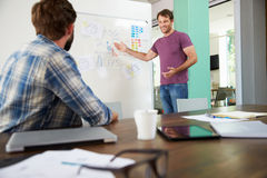 Two Businessmen Having Creative Meeting In Office Royalty Free Stock Photos