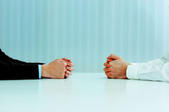 Two businessmen having a discussion Royalty Free Stock Photos