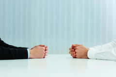 Two businessmen having a discussion Stock Photos