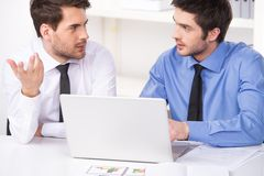 Free Two Businessmen Having Discussion In Office. Stock Images - 46238404