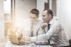Two businessmen having discussion in office Royalty Free Stock Image