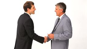 Two businessmen having a meeting stock footage