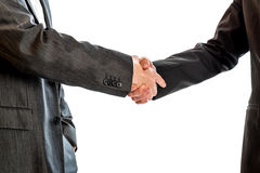 Two businessmen, lawyers or politicians shaking hands Stock Photos