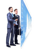 Two businessmen looking Stock Photography