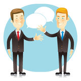 Two Businessmen Meeting contact. Royalty Free Stock Photo