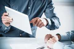 Two businessmen in a meeting Stock Image
